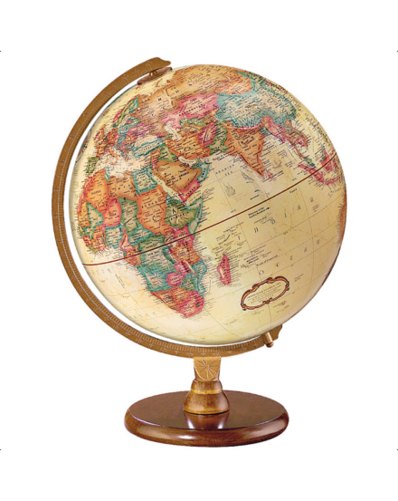 Cartographia  - HASTINGS földgömb - 30 cm átmérőjű, antik, angol nyelvű, fatalpas