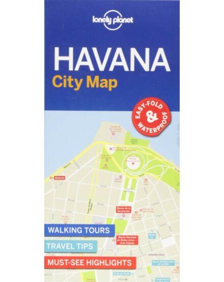 Havanna laminált térkép Lonely Planet