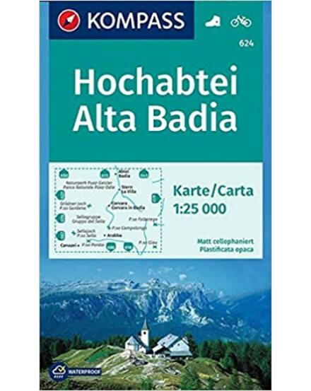 Hochabtei - Alta Badia turistatérkép
