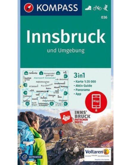 Cartographia  - K 036 Innsbruck és környéke turistatérkép