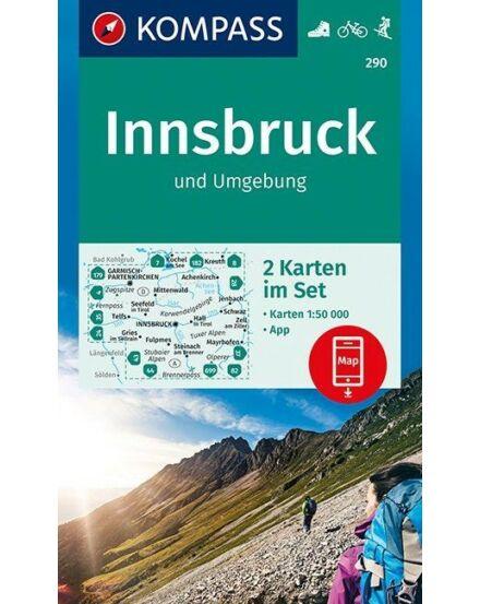 Cartographia  - K 290 Innsbruck és környéke turistatérkép