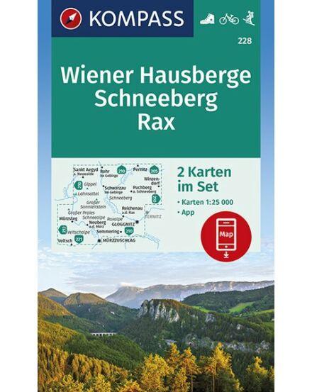 Cartographia  - K 228 Wiener Hausberge-Schneeberg-Rax turistatérkép