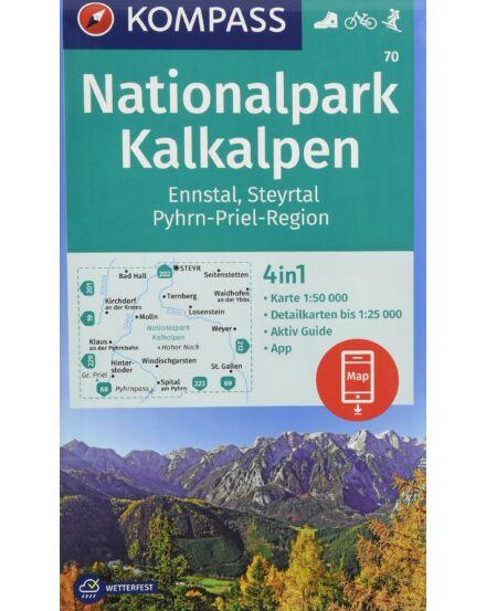 Cartographia  - K 70 Kalkalpen Nemzeti Park, Ennstal, Steyrtal, Pyhrn-Priel Régió turistatérkép