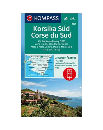 Cartographia  - K 2251 Korzika déli rész turistatérkép