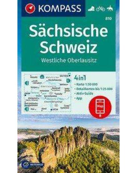 Cartographia  - K 810 Szász-Svájc, Nyugat-Oberlausitz turistatérkép