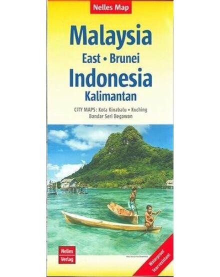 Malajzia-Kelet, Brunei - Indonézia: Kalimantan térkép