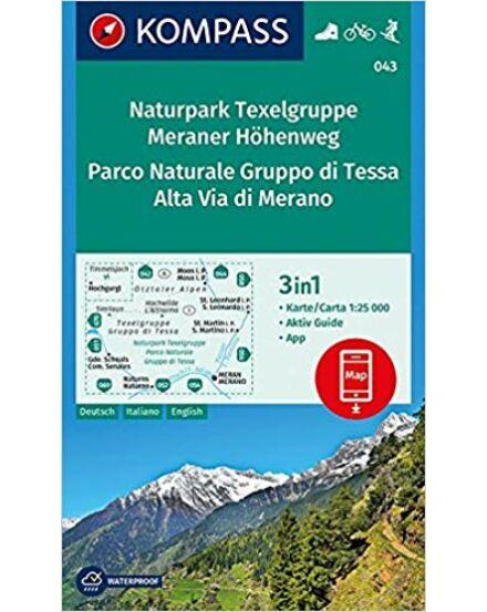 Cartographia  - K 043 Naturpark Texelgruppe - Meraner Höhenweg turistatérkép