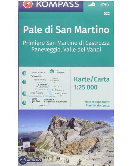 K 622 Pale di San Martino-Fiera di Primiero 1:25e. turistatkp.