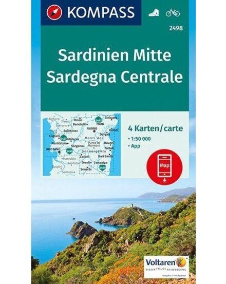 Cartographia  - K 2498 Szardínia középső részének turistatérképe
