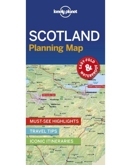 Skócia laminált térkép Lonely Planet