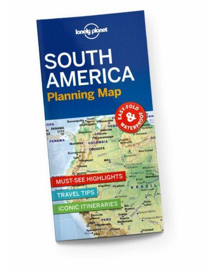 9781788686068 Dél-Amerika útvonaltervező térkép Lonely Cartograpia