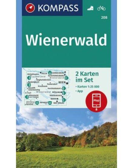 Cartographia  - K 208 Wienerwald turistatérkép