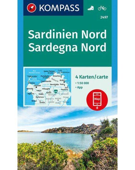 Cartographia  - K 2497 Szardínia észak, 4 részes szett turistatérkép