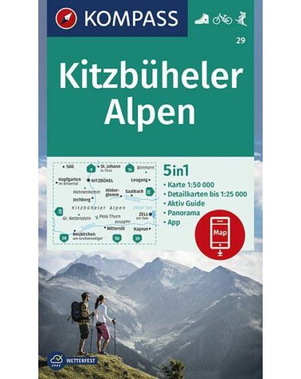 Cartographia  - K 29 Kitzbüheler Alpen turistatérkép