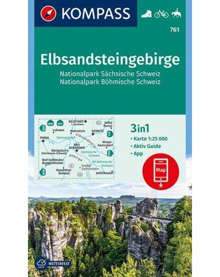 Cartographia  - K 761 Elbsandsteingebirge, Szász-Svájc és Böhmisch-Svájc Nemzeti Park