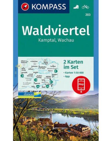 Waldviertel, Kamptal, Wachau, 2 részes térképszett KOMP 203