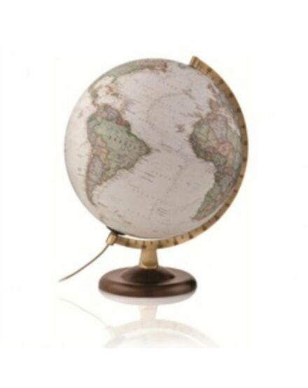 Cartographia  - National Geographic földgömb - világító, antik politikai, 30 cm átmérőjű, fatalpas,angol nyelvű