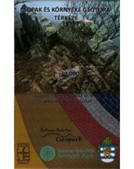 Csopak és környéke geotúra térképe Cartographia 9786150010342