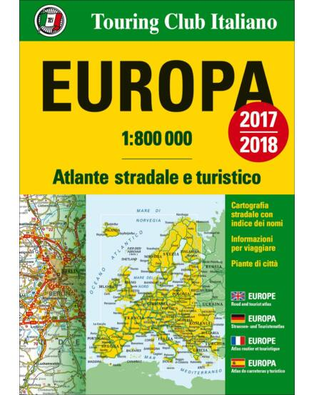 Európa atlasz 1:800 000 2017/2018 Cartographia 9788836570881