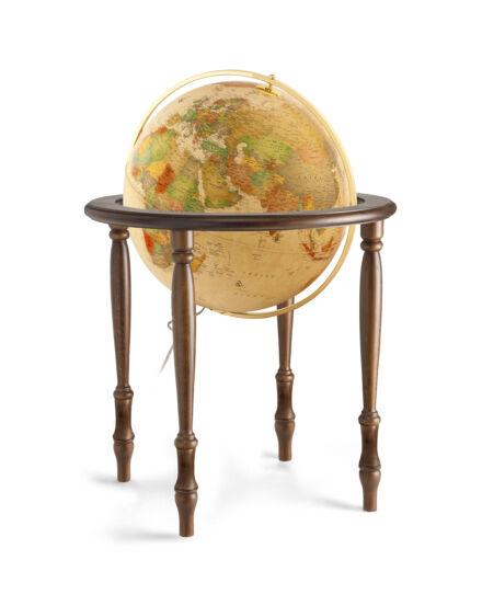 Földgömb CINTHIA Antique 50 cm - duo, tölgyfa talpazat, bronz meridián