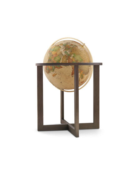 Földgömb CROSS Antique  50 cm - duo, kőrisfa talp, fém meridián
