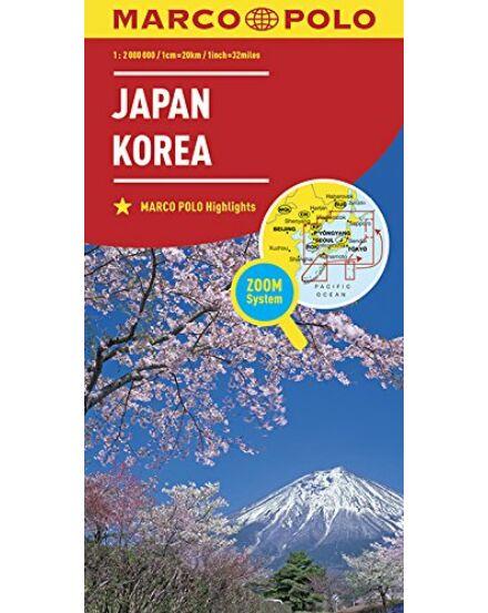 9783829739528 Japán Korea térkép Marco Polo Cartographia