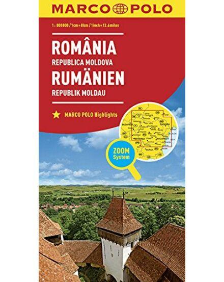 9783829738408 Románia Moldova térkép Marco Polo Cartographia