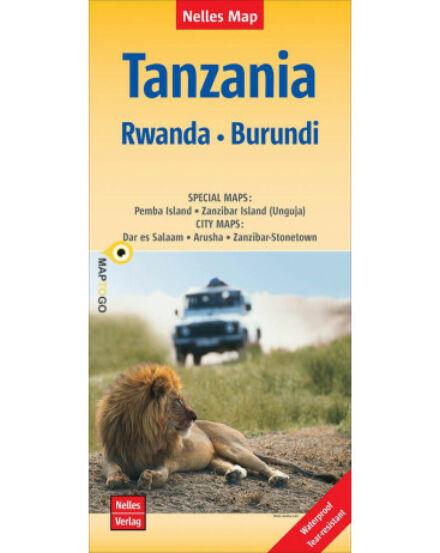 Tanzánia, Ruanda, Burundi térkép