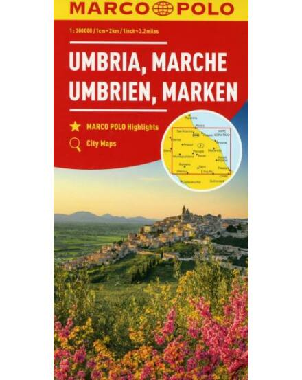 Olaszország résztérkép. 1:200 000- Umbria, Marche
