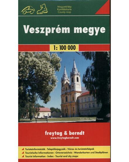 9789639458369 Veszprém megye térkép kerékpáros- és szabadidőtérkép Freytag Cartographia