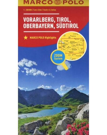 Ausztria résztérkép 1:200 000 3. - Vorarlberg /Tirol / Oberbayern /Dél-Tirol