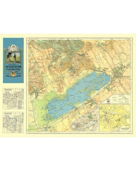 Velencei-tó térkép (1929) -angyalos (HM)
