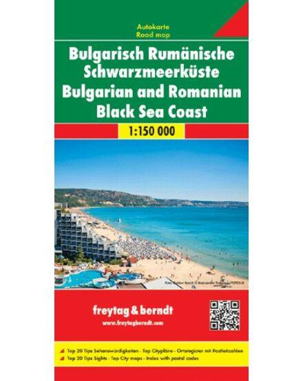 Bolgár-román Fekete-tengerpart térkép