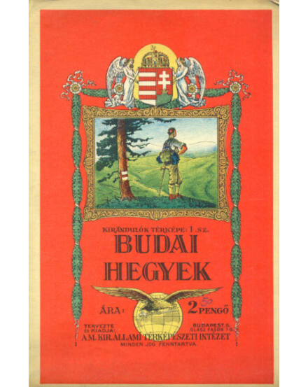 Budai hegyek térkép (1934) -angyalos (HM)