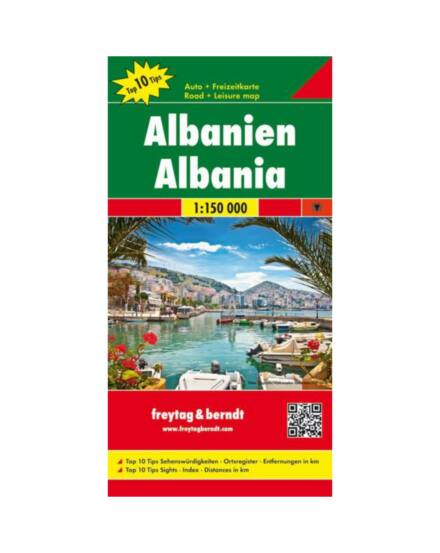 Albánia térkép 1:150 000