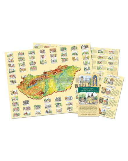 Kegyhelyek és Búcsújáróhelyek látványtérkép (Civertan)