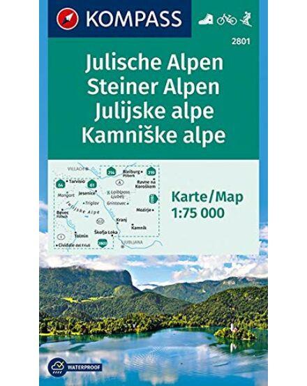 Cartographia  - Júliai-Alpok, Kamniki-Alpok  turistatérkép