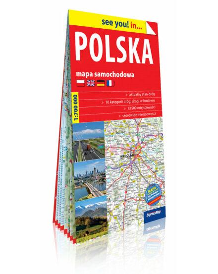 Lengyelország térkép 1 : 700 000 2018