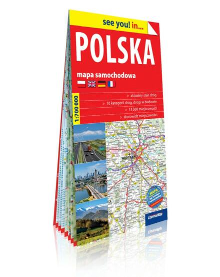 Lengyelország térkép 1 : 700 000
