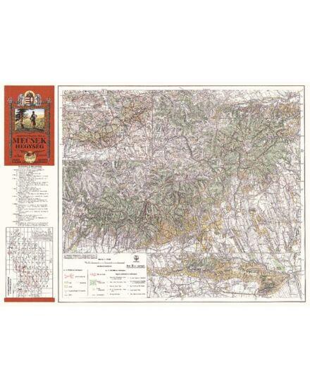 Mecsek hegység  térkép (1929) -angyalos (HM)