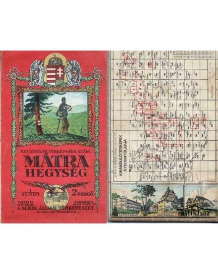 Mátra hegység térkép (1933) -angyalos (HM)