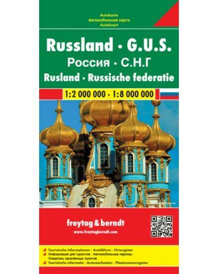 Oroszország-FÁK térkép