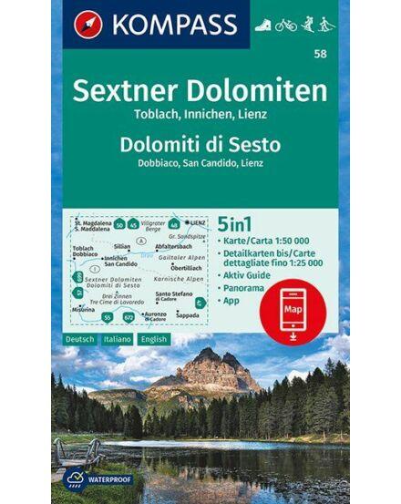Cartographia  - K 58 Sextener Dolomitok turistatérkép