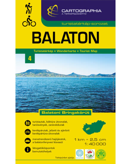 Cartographia  - Balaton turistatérkép 1:40e. [41]