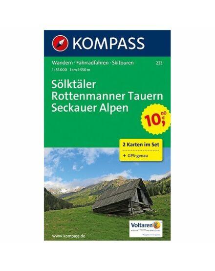 Sölktaler/Rottenmanner Tauern/Seckauer Alpen 2r. szett 1:55 000 KOMP 223