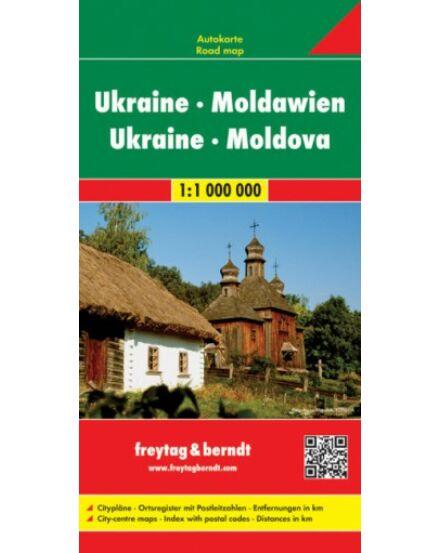 Ukrajna-Moldova keményborítós térkép