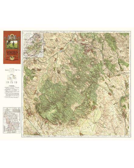 Vértes-hegység térkép (1928) -angyalos (HM)