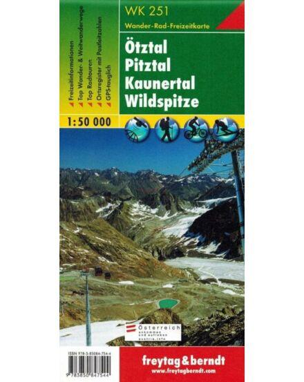 WK251 Ötztal-Pitztal,Kaunertal turistatérkép