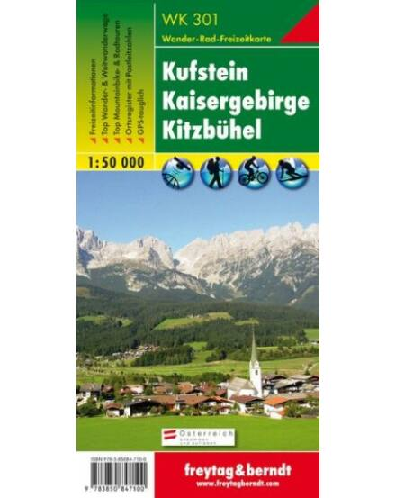 WK301 Kufstein Kaisergebirge Kitzbühel turistatérkép