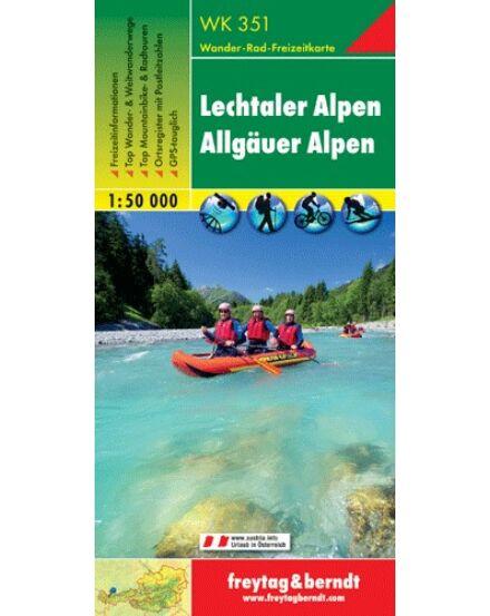 WK351 Lechtaler-Allgauer Alpen turistatérkép